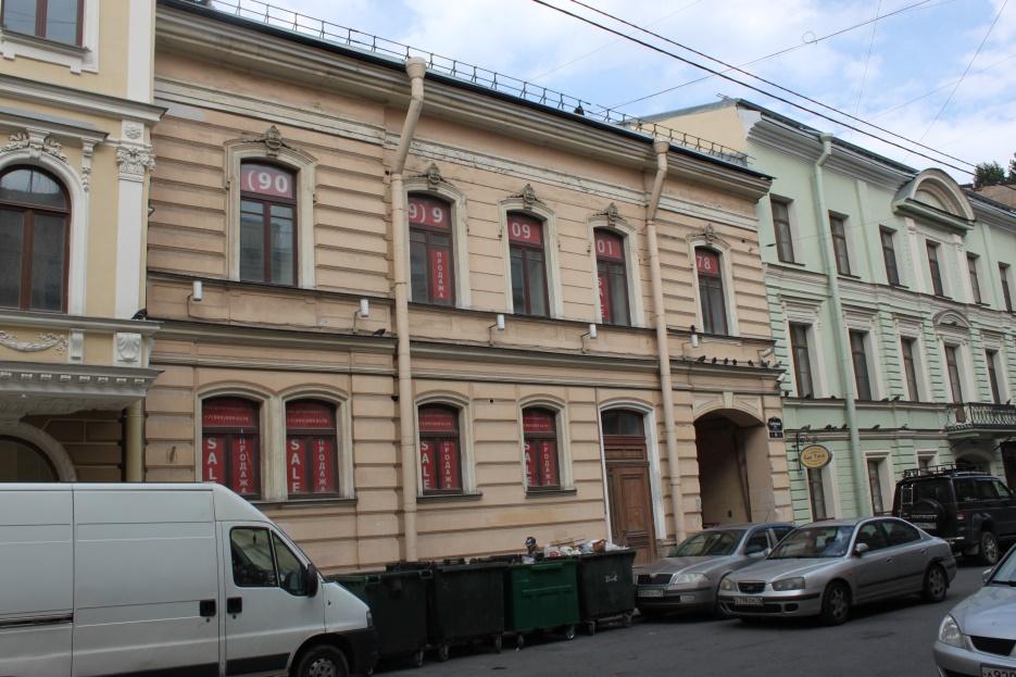 Главный фасад Галерная 61
